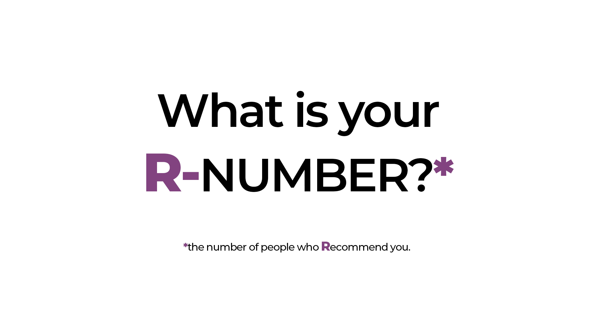 what is your r number?